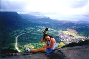 Sitting' atop the Stairway to Heaven, Kaneohe
