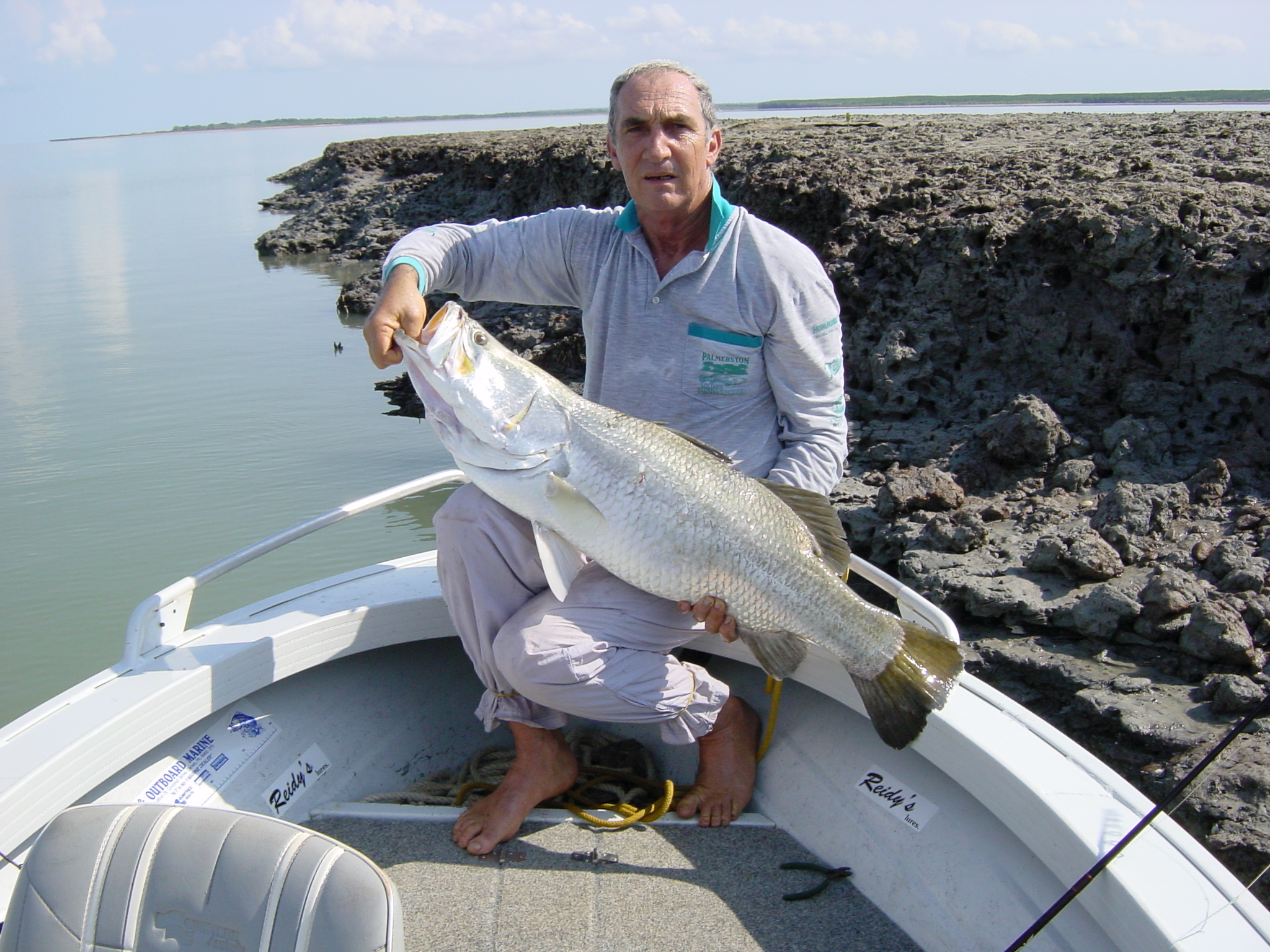 Jeff Reid with one of 14 fish caught ranging from 95cm to 117cm